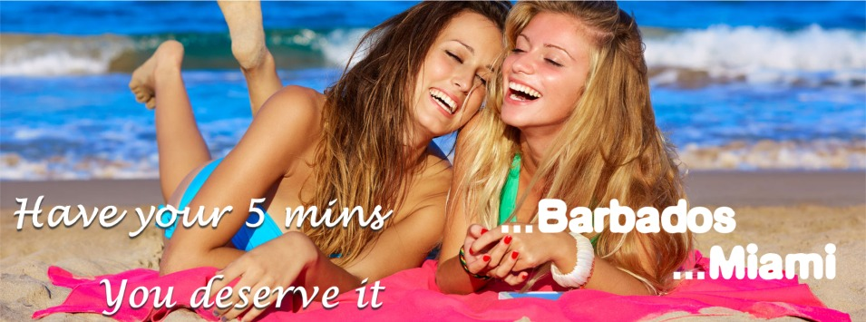 Have your 5 mins ...Barbados ...Miami  - you deserve it Bronze Age Tanning, Letterkenny & Drogheda, Co. Donegal,  Ireland